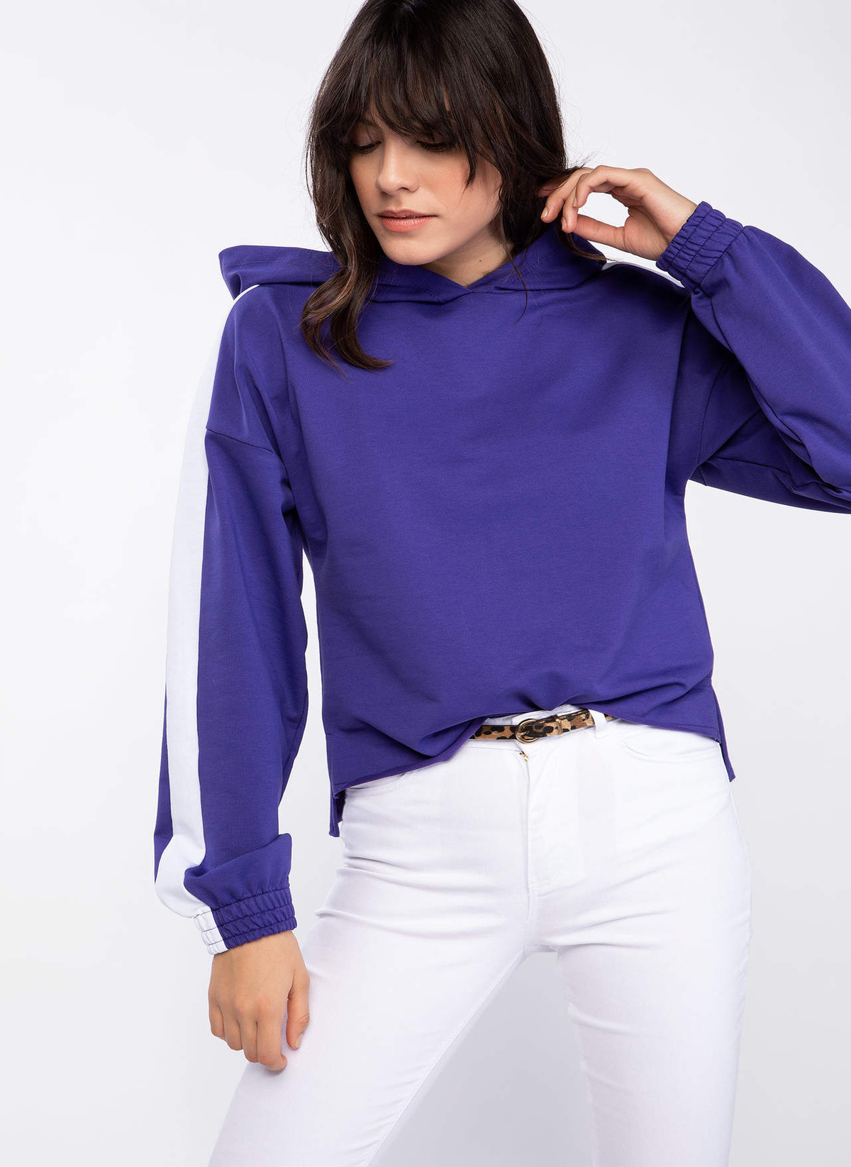 Defacto Kapşüonlu Şerit Detaylı Sweatshirt K5335az18cwpr231sweatshirt – 49.99 TL